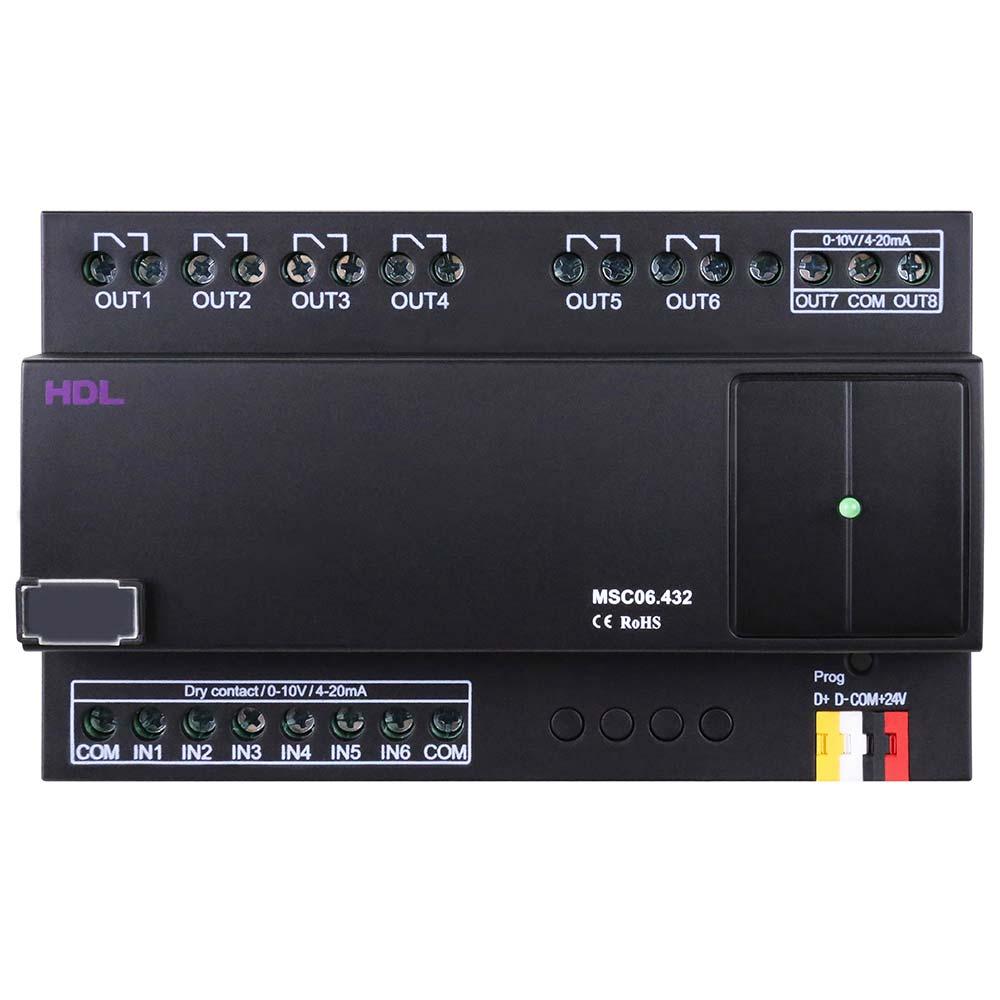 6-канальный DIN модуль входов и выходов