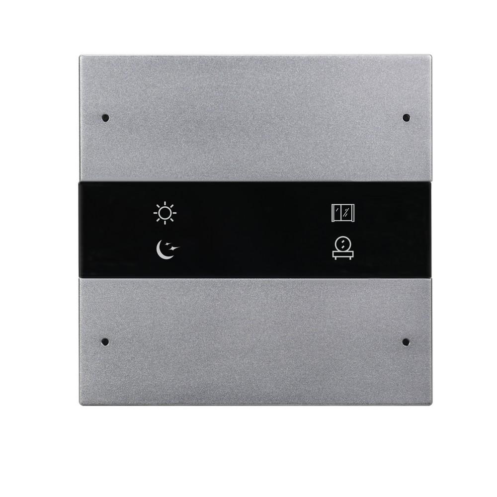 4-клавишная панель Granite, европейский стандарт, серый металл