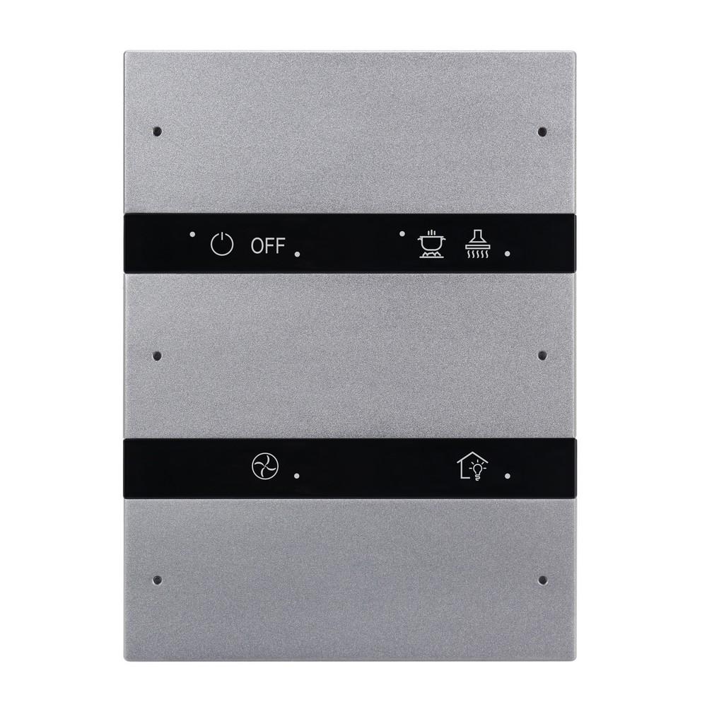 6-клавишная панель KNX серии Granite, US стандарт, серый металл