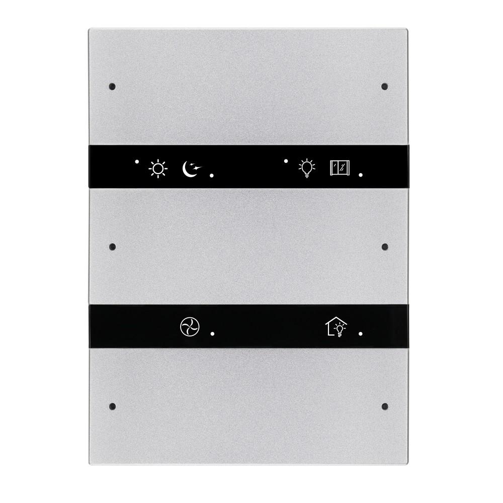 6-клавишная панель KNX серии Granite, US стандарт, арктическое серебро