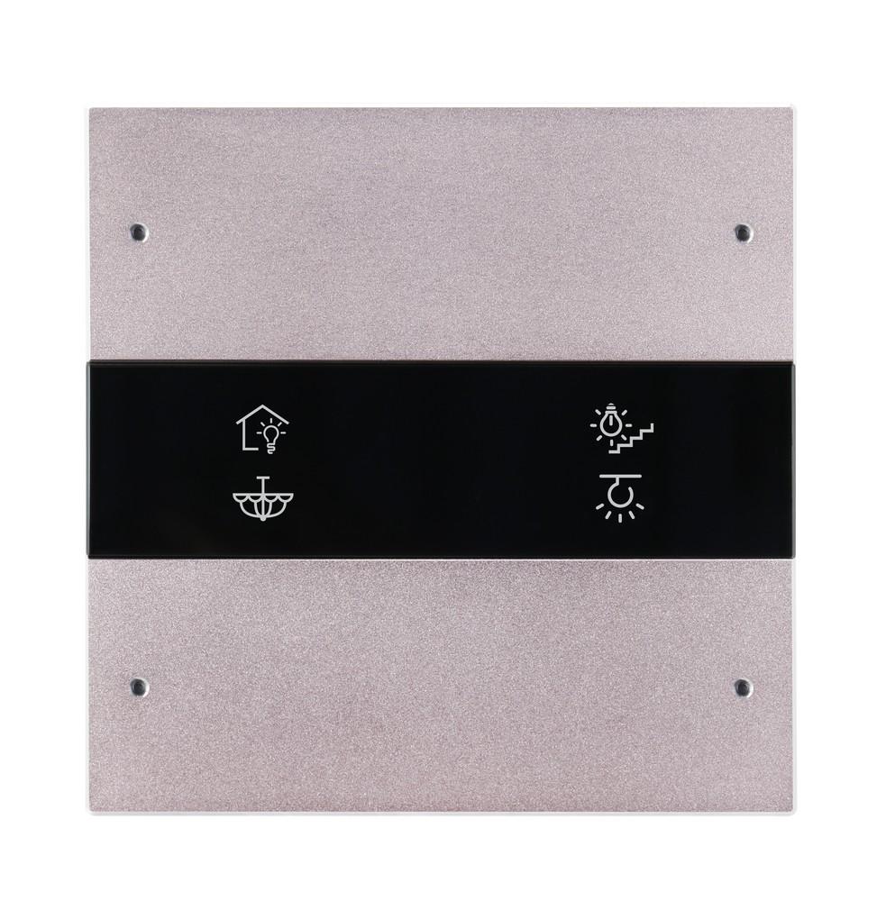 4-клавишная панель Granite, европейский стандарт, розовое золото