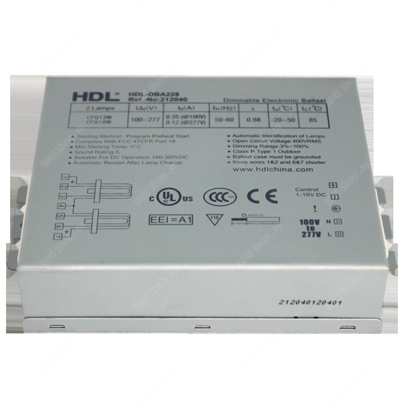 Балласт 0-10V (U,2U,3U(PL))2x42/100-277V TCD DIM-A