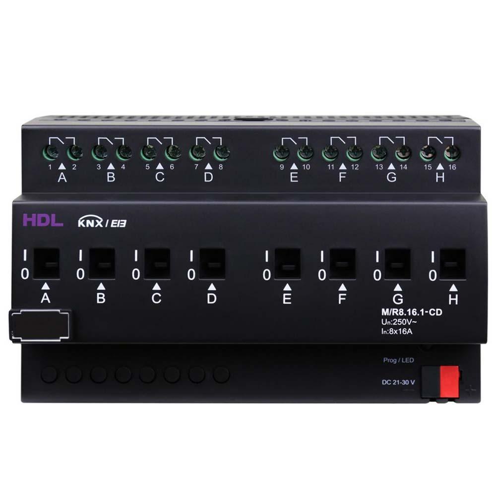 DIN реле с детекцией тока, 8-канальное, 16A на канал