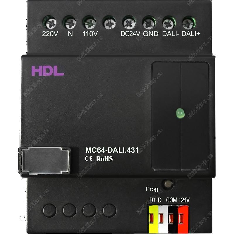 64-канальный DALI контроллер с адресными функциями DALI