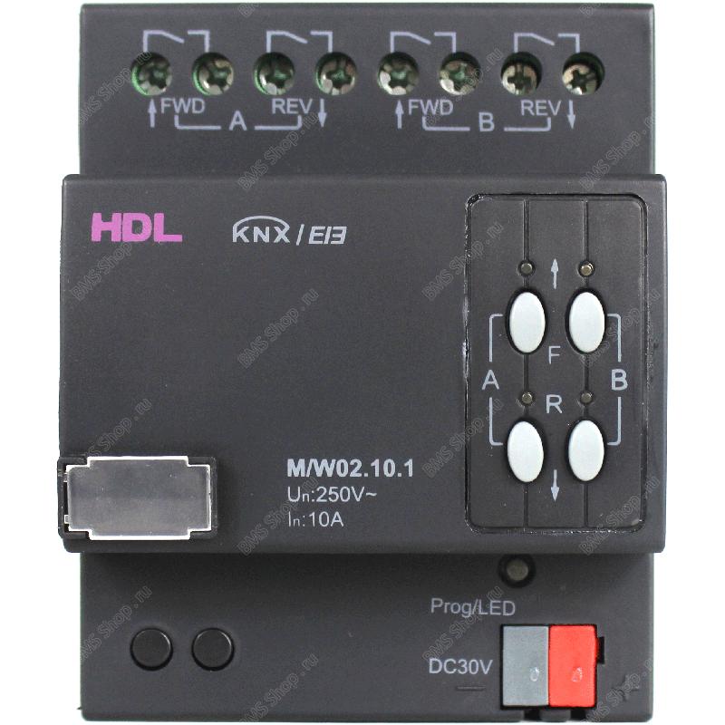 Перекидное реле 2 канала, 10А на канал для управления моторизованными нагрузками