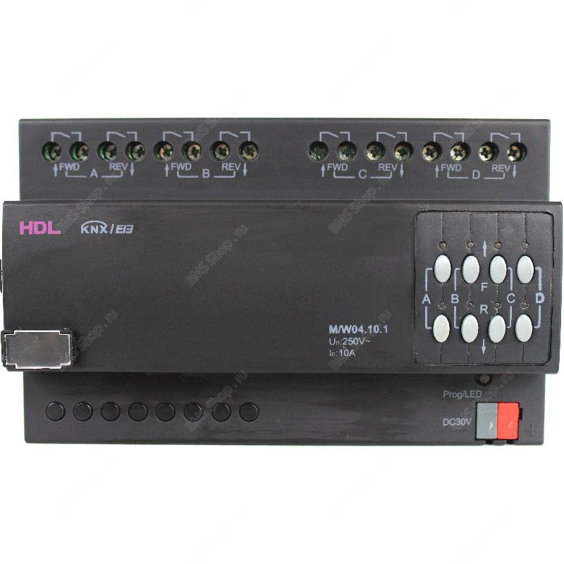 Перекидное реле 4 канала, 10А на канал для управления моторизованными нагрузками