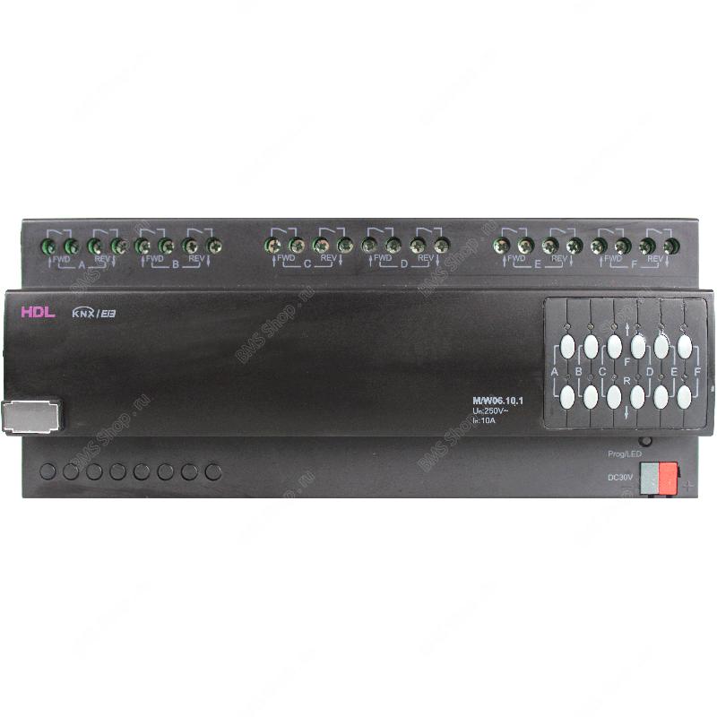 Перекидное реле 6 канала, 10А на канал для управления моторизованными нагрузками