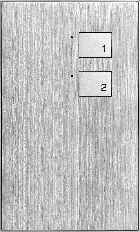 Новая 2 клавишная металлическая панель (KR)