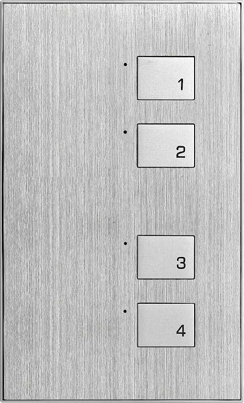 Новая 4 клавишная металлическая панель (KR)