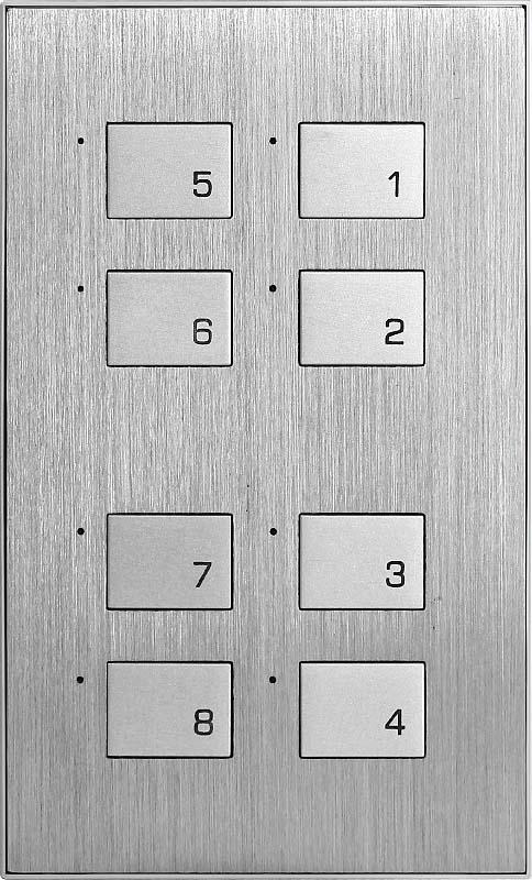 Новая 8 клавишная металлическая панель (KR)