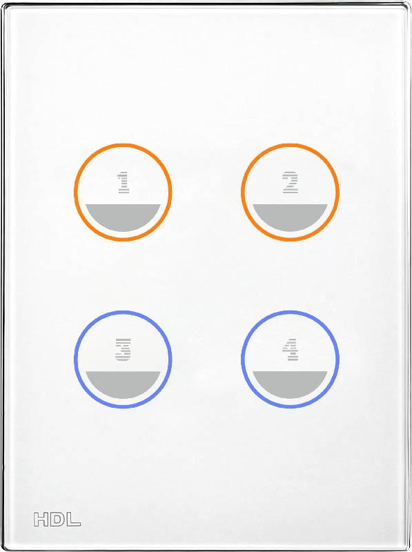 Новая сенсорная 4 клавишная панель, US/AU стандарта