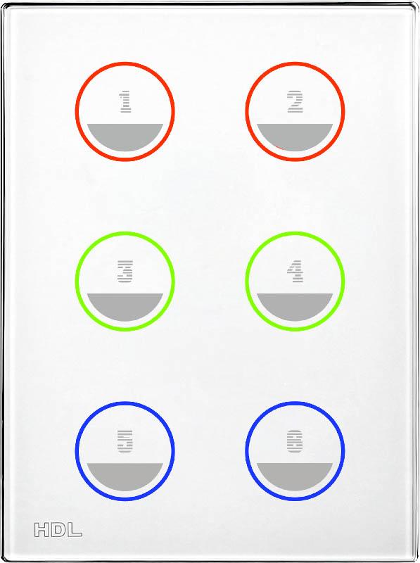 Новая сенсорная 6 клавишная панель, US/AU стандарта